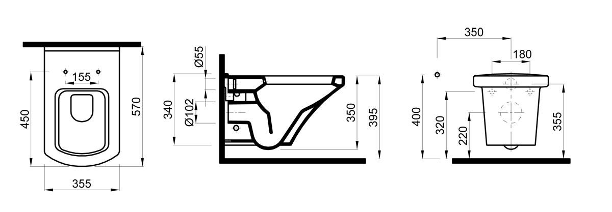 idevit venus tiefsp l wc wandh ngend set inkl wc. Black Bedroom Furniture Sets. Home Design Ideas